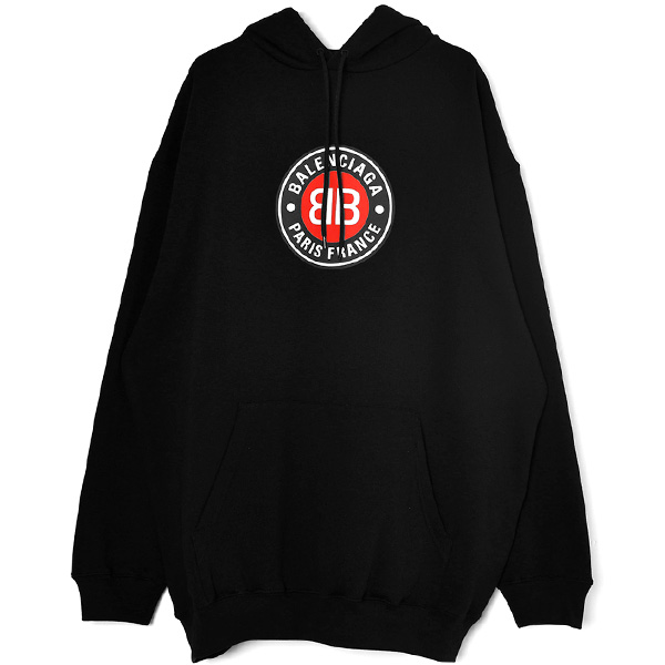 BB LOGO MIDIUM-FIT HOODY/BLACK