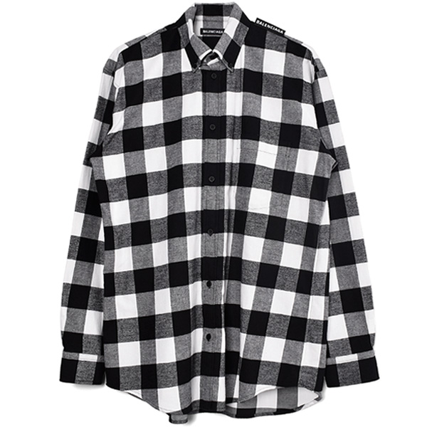 CHECK PATTERN SHIRT/BLACK/WHITE