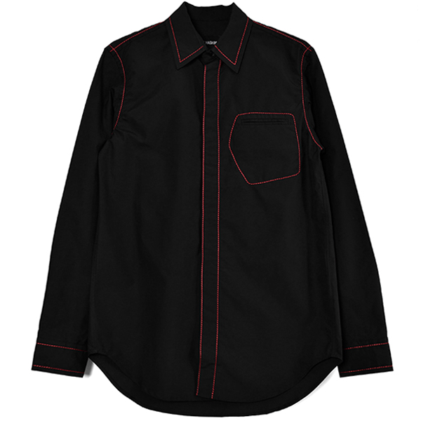 CONTRAST STICH SHIRT/BLACK