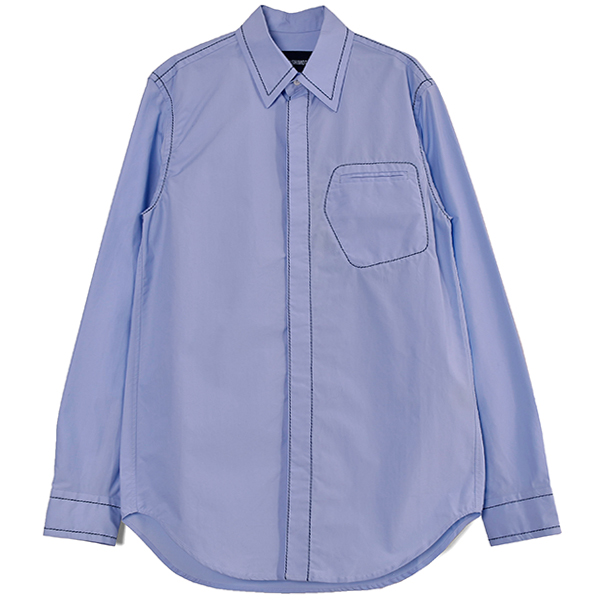 CONTRAST STICH SHIRT/BLUE