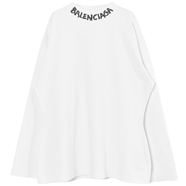 Curved L/S T-Shirt /WHITE(646035-TJV96)