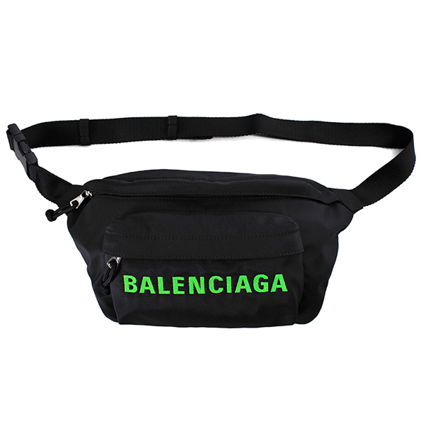 LOGO BELT BAG/ BLACK/GREEN