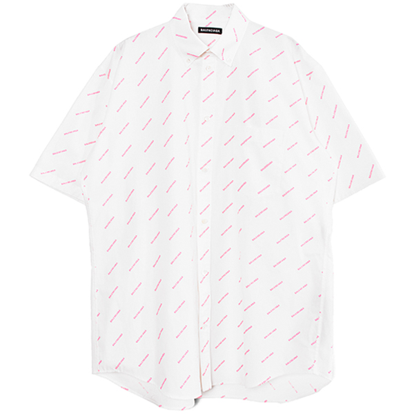 LOGO SHIRT/WHITE/PINK