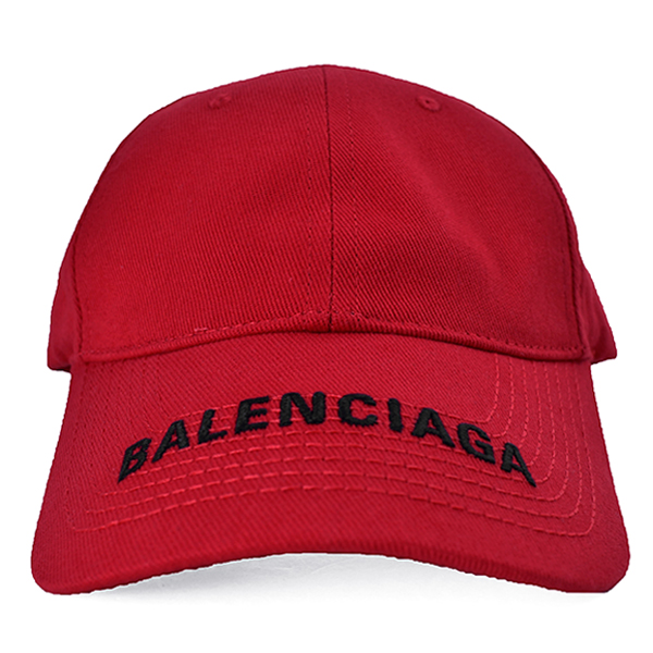 BALENCIAGA LOGO CAP/RED/BLACK