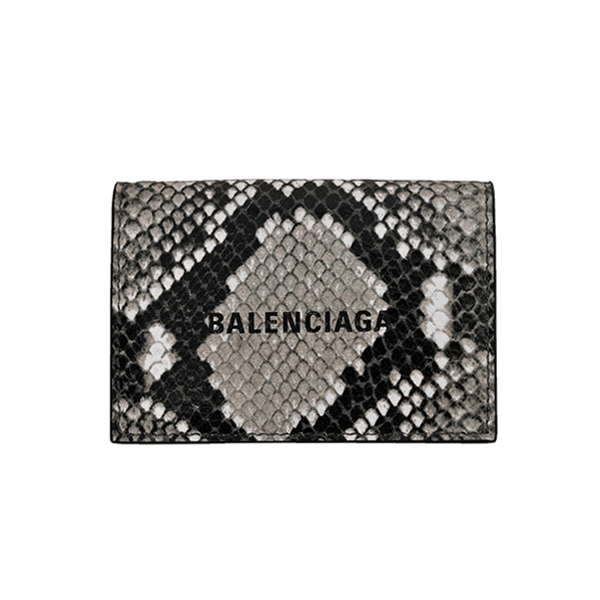 PYTHON PRINTED MINI WALLET/ BLACK/WHITE