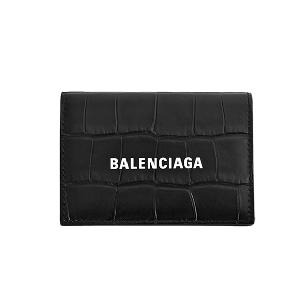 CROCODILE EMBOSSING  MINI WALLET/ BLACK