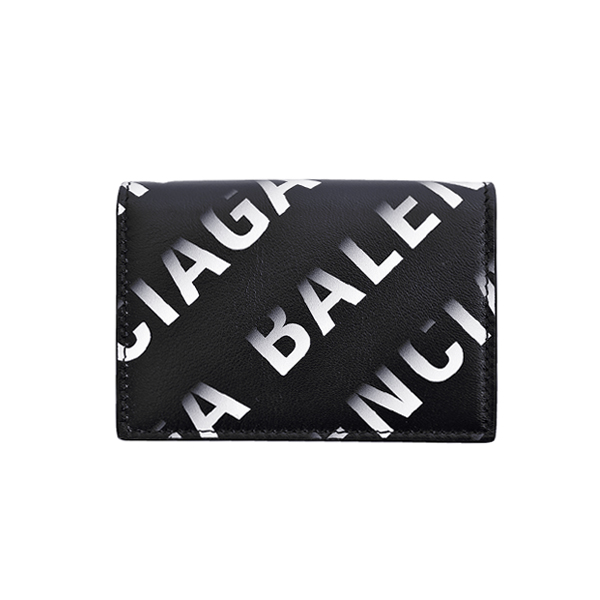 LOGO GRADATION MINI WALLET/ BLACK/WHITE