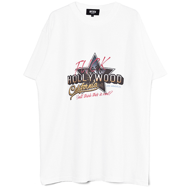 Fuck the HOLLYWOOD Tee/WHITE(MC-211-05)