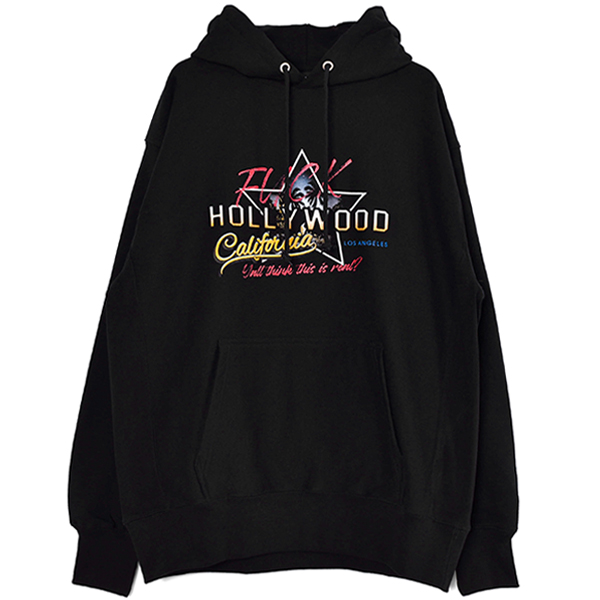 Fuck the  HOLLYWOOD Hoodie/BLACK(MC-211-10)