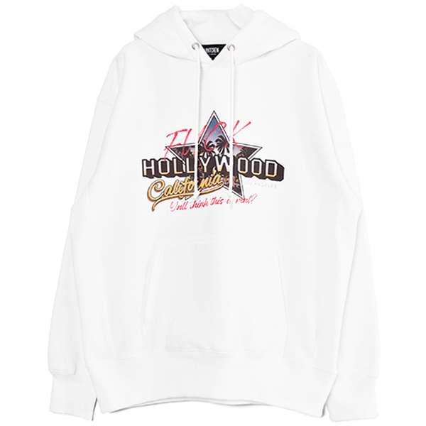 Fuck the  HOLLYWOOD Hoodie/WHITE(MC-211-10)