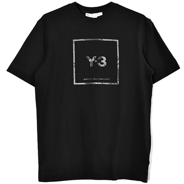 U SQUARE LABEL GRAPHIC SS TEE/BLACK(GV6060)