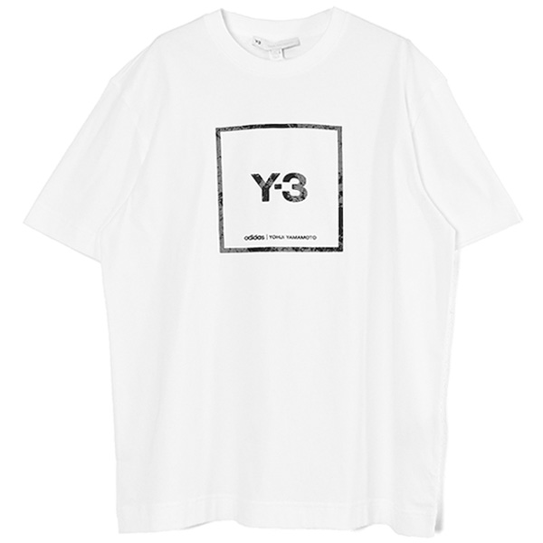 U SQUARE LABEL GRAPHIC SS TEE/WHITE(GV6061)