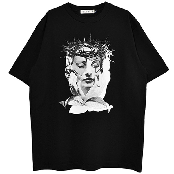 TEE THORNS WOMAN/BLACK(UC1A3815)