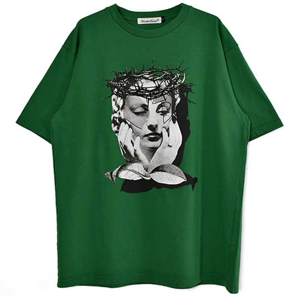 TEE THORNS WOMAN/GREEN(UC1A3815)