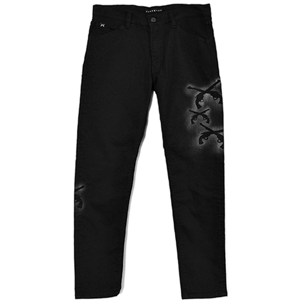 BK DENIM STENCIL/BLACK(21WGP-05A)