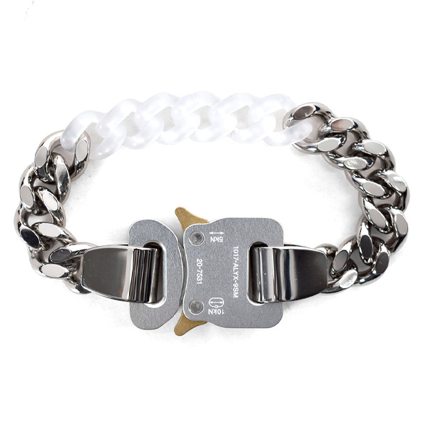 METAL AND NYLON CHAIN BRACELET/SILVER/TRANSPARENT	(AAUJW0060OT02)