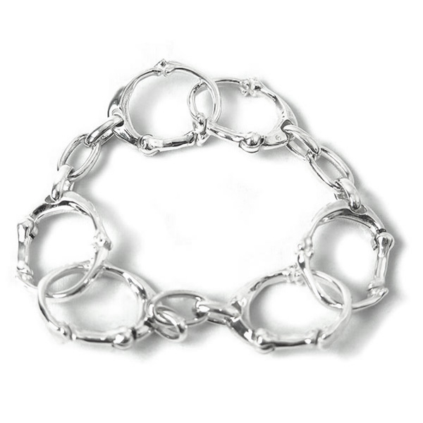 bone shaped carabiner bracelet -S-.(sa.0029SS21)