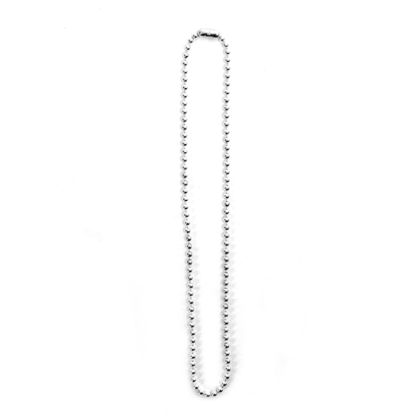 ball chain necklace -S- regular./silver(sa.0031SS21)