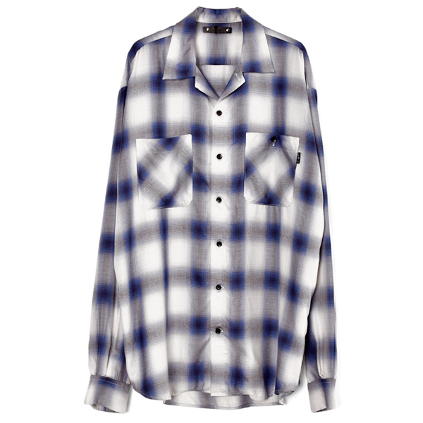 Rayon Ombre Check Loose Work SH/WHITE/BLUE(MND-TSK001)