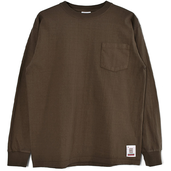 SD Heavyweight Pocket Long Sleeve T/BROWN
