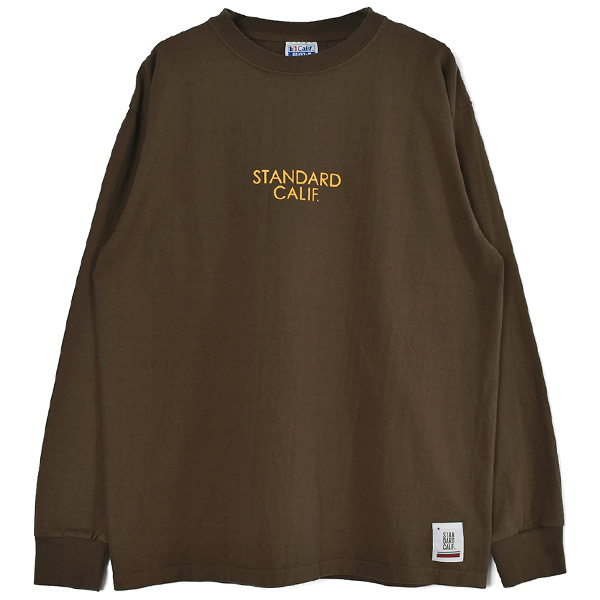 SD Heavyweight Logo Long Sleeve T/BROWN