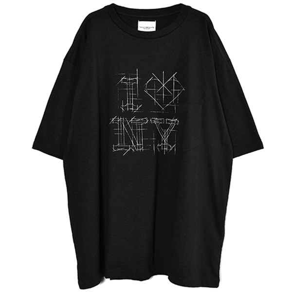 I LOVE NY(oversized s/s tee)/BLACK(sc.0136SS21)