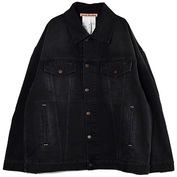 DENIM JACKET/BLACK(FN-UX-OUTW000004)