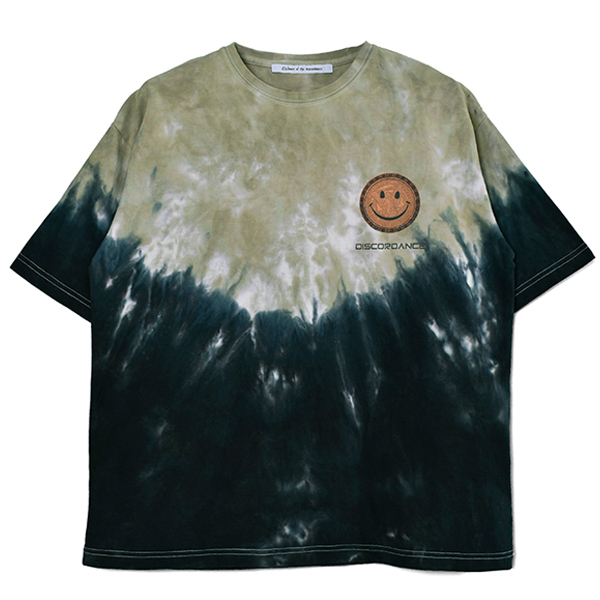 HAND DYEING AND PRINT TEE TYPE B-2/BEIGE