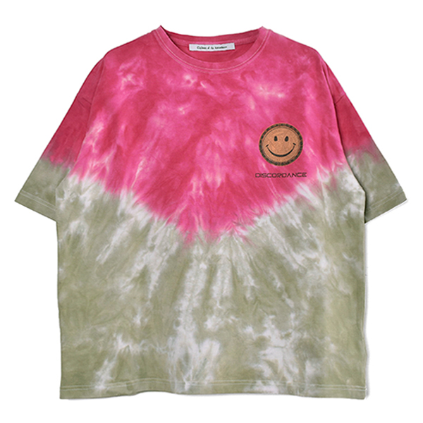 HAND DYEING AND PRINT TEE TYPE B-2/PINK