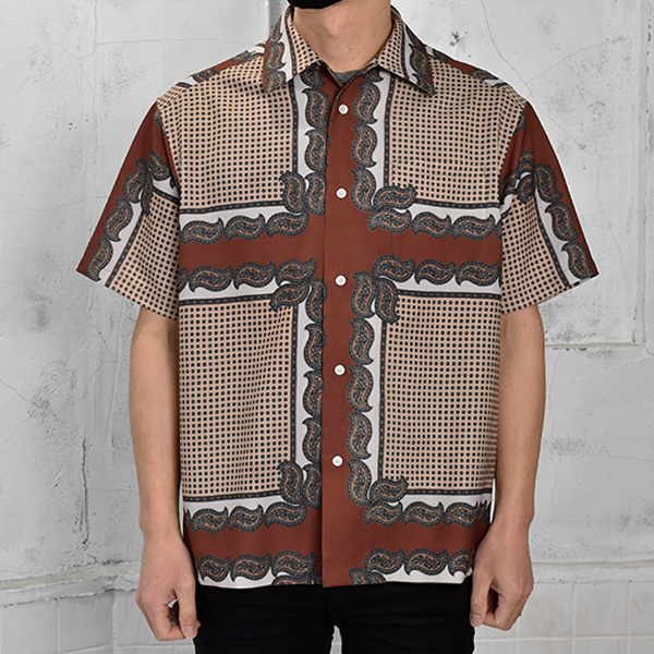 PERSONAL DATA PRINT SHORT SLEEVE SHIRT/BEIGE