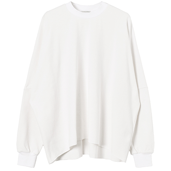 THERMAL OVERSIZE TOPS/WHITE