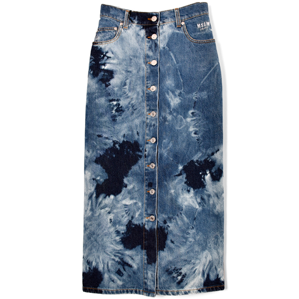 LONG SKIRT IN DENIM MSGM/BLUE