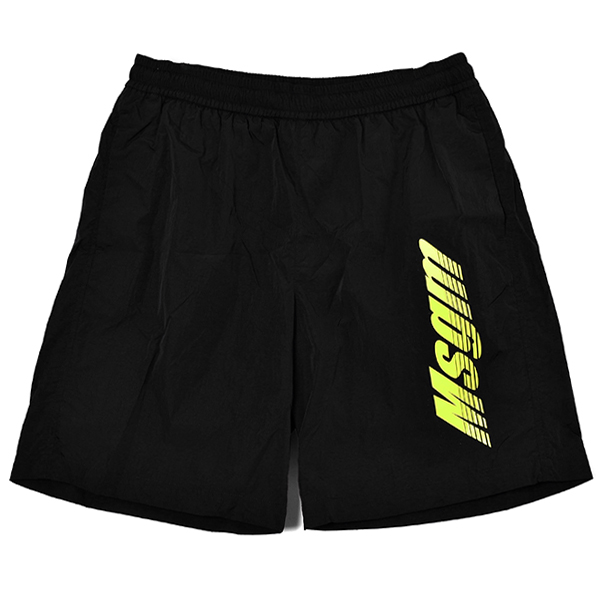 shorts in nylon with 3d logo/BLACK