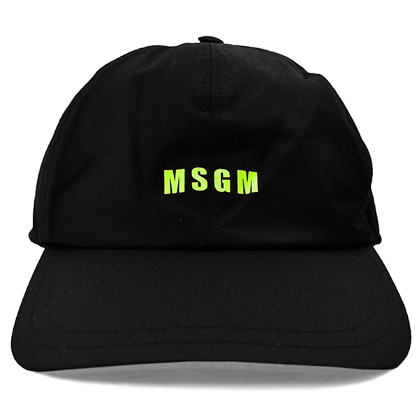 baseball hat with msgm micro logo/BLACK