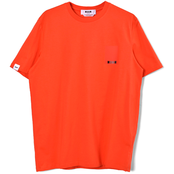scoop neck t-shirt/ORANGE