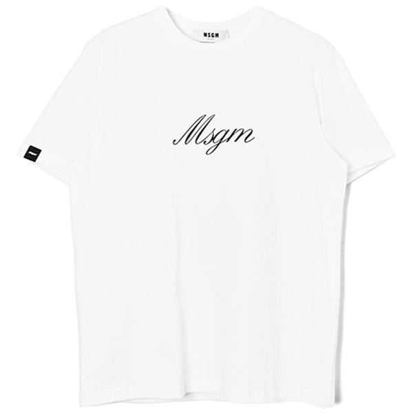 sign logo  t-shirt/WHITE