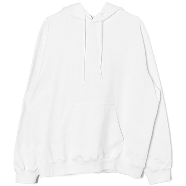 msgm print hooded sweatshirt/WHITE