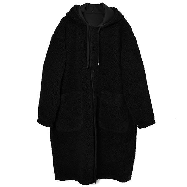 REVERSIBLE LONG COAT/BLACK