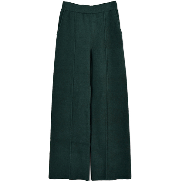 STRAIGHT KNIT PANTS/GREEN