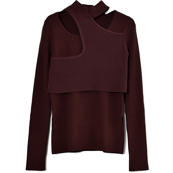 ASYMME LAYERD L/S KT/BROWN