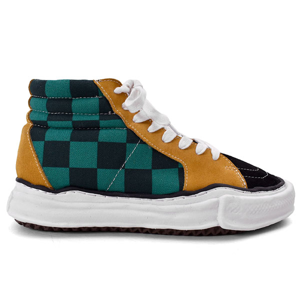 big gingham hitop sneakers/MULTI