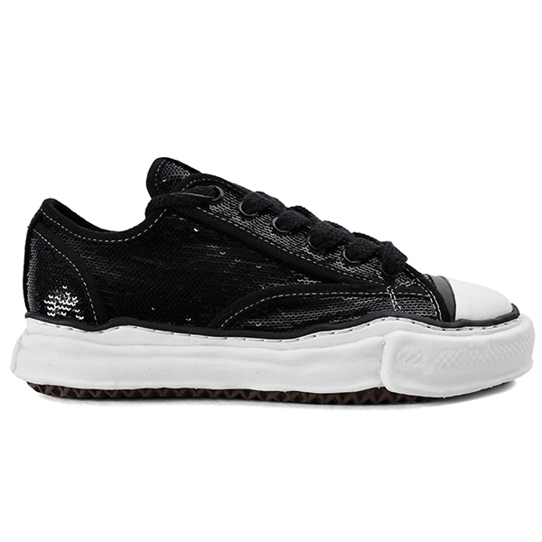 original sole spangle lowcut sneaker/BLACK