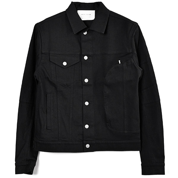 DENIM JACKET WITH PKT/BLACK