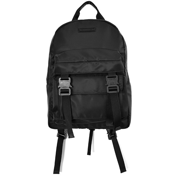 BACKPACK W/DOUBLE FRONT POKETS/BLACK