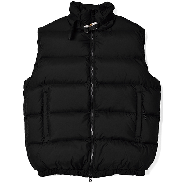 PUFFER VEST W NYLON BUCKLE/BLACK