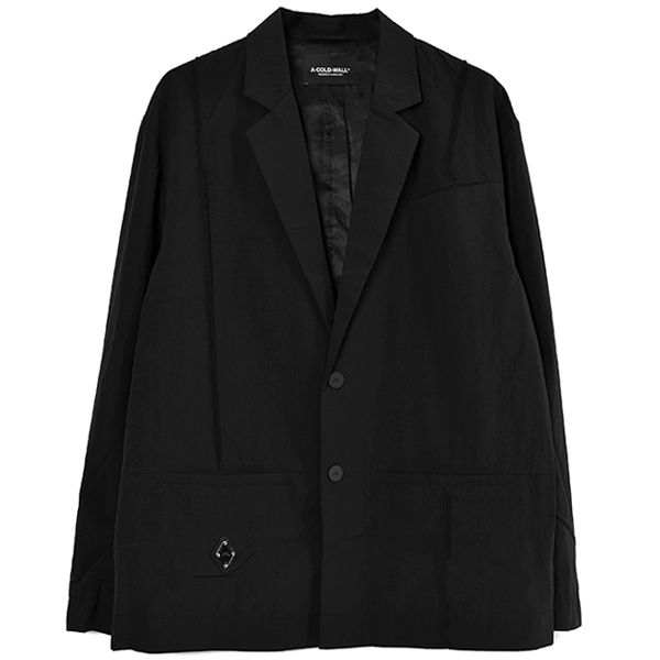 RHOMBUS BADGE BLAZER/BLACK