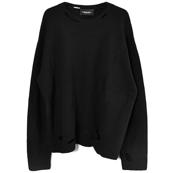 OVERSIZED DESTROY KNITTED JUMPER/BLACK