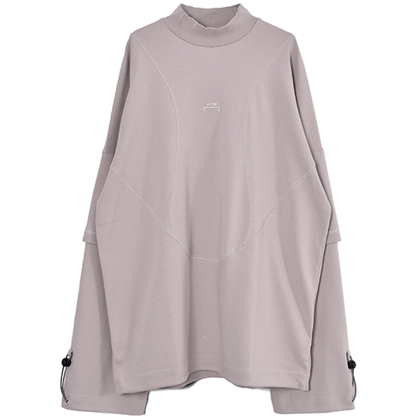 INETRLOCK CEMENT OVERSIZED DOUBLE SLEEVE T-SHIRT/CEMENT