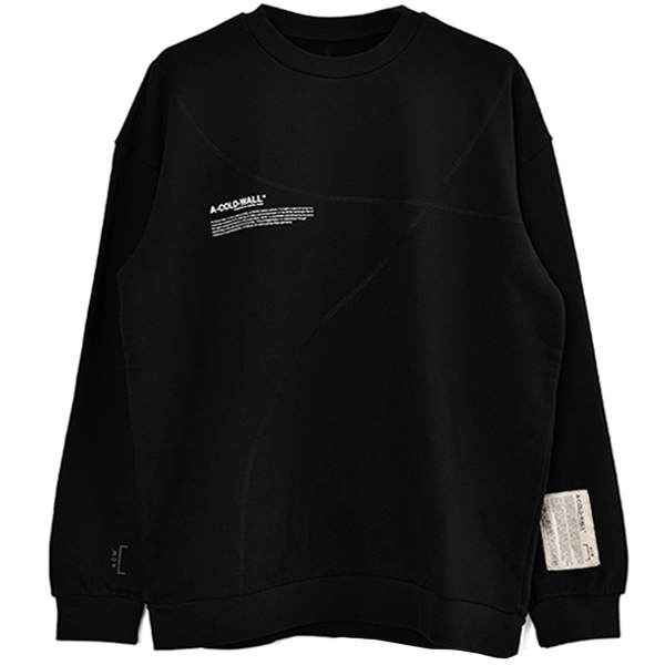 CLASSIC FLAT OVERLOCK CREWNECK WITH MISSION STA/BLACK