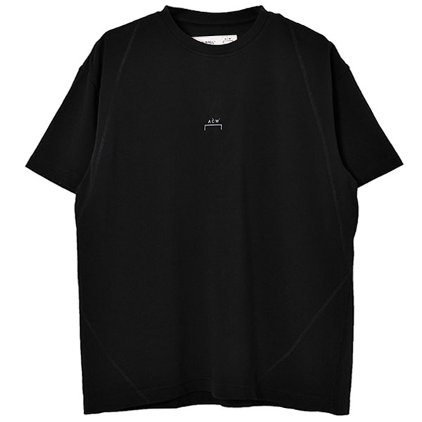 CORE T-SHIRT WITH FLAT OVERLOCK/BLACK